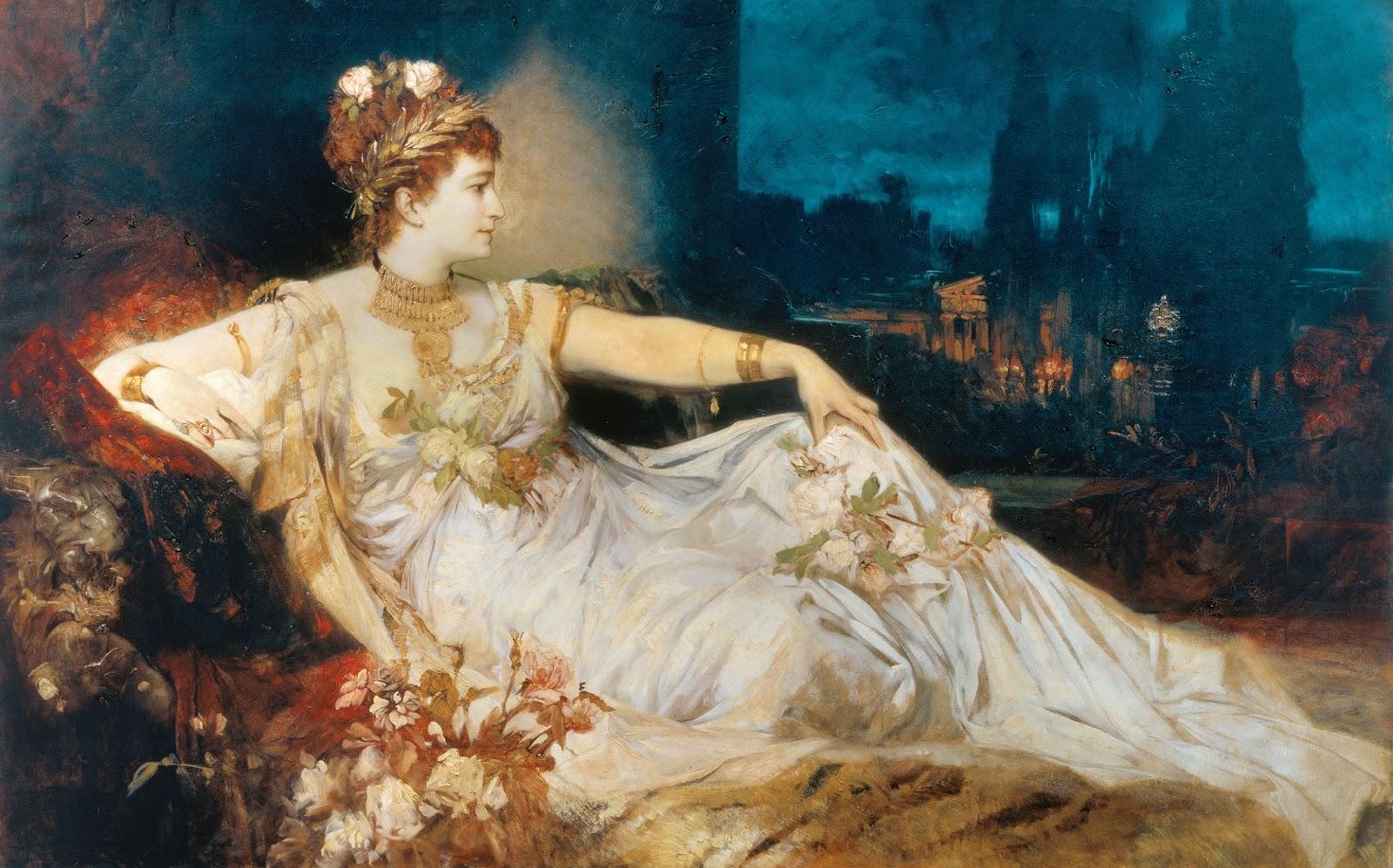 Hans Makart - Portretul Charlottei Wolter ca Messalina