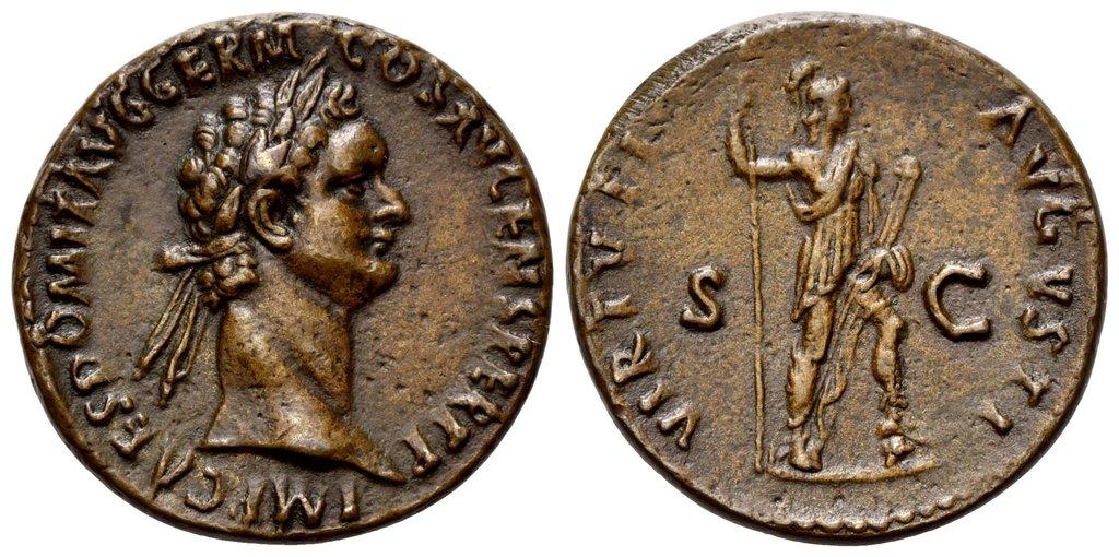 O monedă de pe vremea lui Domitian