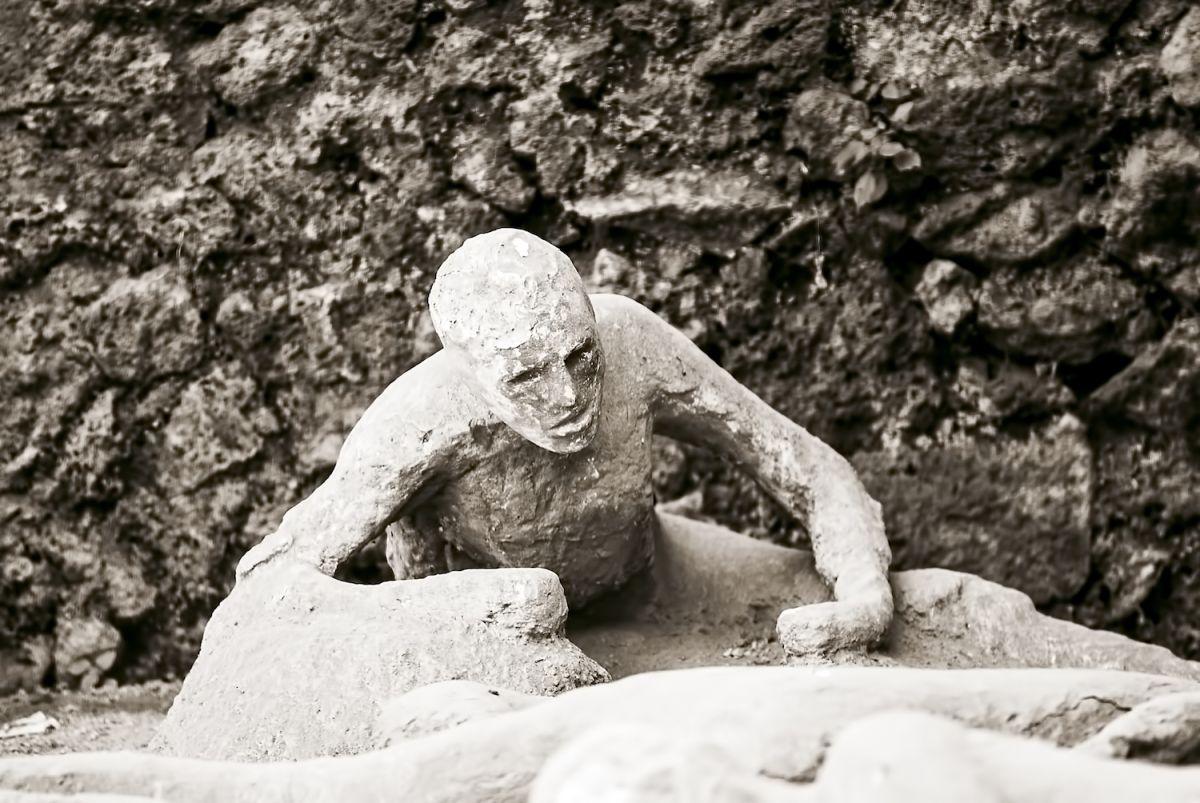 Una din figurile restaurate de arheologi la Pompeii